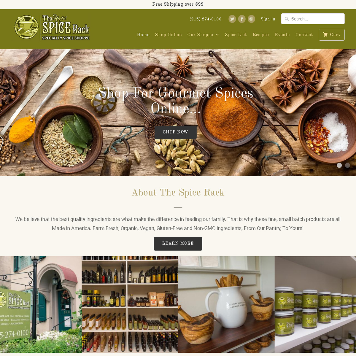 Philly Spice Rack Shopify Design